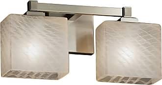 Justice Design Fusion Regency FSN-8432-55 Bathroom Vanity Light with Rectangle Shade - FSN-8432-55-MROR-MBLK-LED2-1400