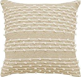 Ellery Homestyles Beautyrest Pemberly Embellished Pillow, 18 x 18, Beige