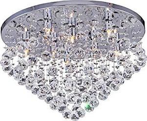 Wee Plafon de Cristal para 8 Lâmpadas Cascata Wee Cromado