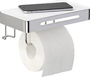 Kunststoff 16 x 5 x 16 cm ABS Wei/ß WENKO 17941100 Toilettenpapierhalter Pure