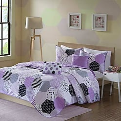 Urban Habitat Trixie Full/Queen Bedding for Girls Quilt Set - Purple, Geometric - 5 Piece Kids Girls Quilts - Cotton Quilt Sets Coverlet
