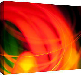 ArtWall Revolver Ocelots Abstract Gallery Wrapped Canvas Artwork, 24 x 36