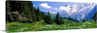 Great Big Canvas Alpine Scene Near Murren Switzerland Thick-Wrap Canvas Wall Art Print - 81963_24_36X12_NONE