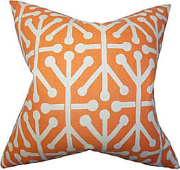 The Pillow Collection Heath Geometric Bedding Sham Orange King/20 x 36