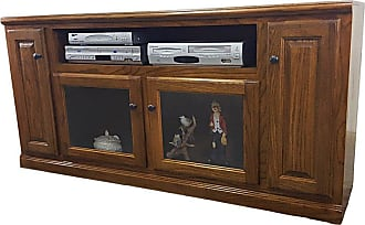 American Heartland 66 in. Oak TV Stand with Glass Door - Assorted Finishes - 46866LT
