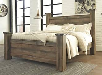 Ashley Furniture Trinell King Poster Bed, Brown