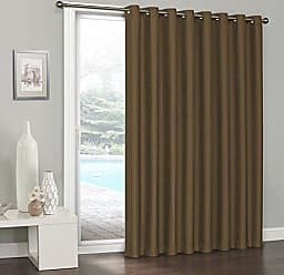 Ellery Homestyles KOZDIKO Eclipse Clara Blackout Patio Door Curtain, 84 x 100, Amber