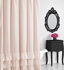Revman International Betsey Johnson Solid Microfiber Shower Curtain, 72x72, Pastel Pink