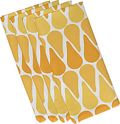E by Design E by design N4G791YE8 Watermelon Seeds, Geometric Print Napkin 19 x 19 Yellow