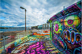 Noir Gallery Graffiti Street Art in Stockholm Canvas Wall Art - STHLM-02-TW-08