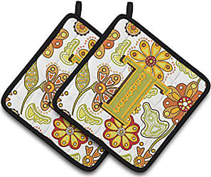 Carolines Treasures Letter T Monogram Multicolor 7.5HX7.5W Camo green Pair of Pot Holders CJ1030-TPTHD