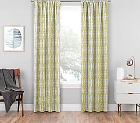 Ellery Homestyles KOZDIKO Eclipse Delaney Blackout Window Curtain Panel, 37 x 95, Apple Green