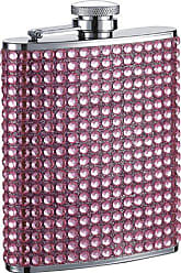 Visol Products VisolKylie Bling Stainless Steel Hip Flask, 6-Ounce, Pink