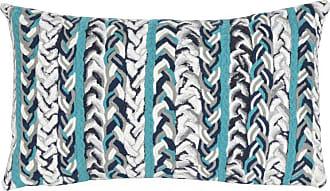 Liora Manne Braided Stripe Indoor/Outdoor Pillow Orange - 7SC1S412519