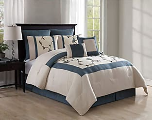 VCNY Home VCNY 8 Piece Trousdale Embroidered Comforter Set, Queen