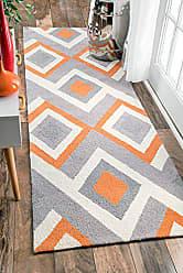 nuLOOM Handmade Geometric Triangle Runner Area Rugs, 2 6 x 8, Orange