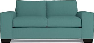 Apt2B Melrose Apartment Size Sleeper Sofa - Leg Finish: Espresso - Sleeper Option: Deluxe Innerspring Mattress - Teal Poly Blend - Sold by Apt2B - Mode