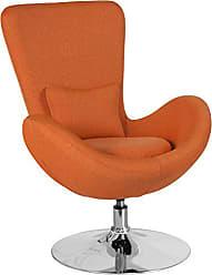 Flash Furniture Egg Series Orange Fabric Side Reception Chair