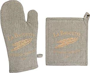 Taille Unique Gris-Perle Le Creuset Double Gant avec Boucle Coton