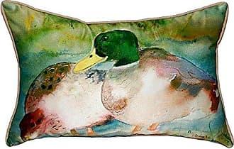 Betsy Drake SN242 Mallards Small Indoor/Outdoor Pillow, 11 x14