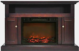 Cambridge Silversmiths Sorrento Fireplace Mantel with Electronic Fireplace Insert, Mahogany