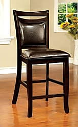 FURNITURE OF AMERICA Williams Home Furnishing CM3024PC-2PK Wood II Parson Chair, Espresso