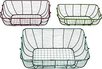 Benzara Woodland Imports Elegantly Hand Crafted Metal Wire Basket, Set of 3