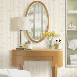 Brewster Home Fashions Bell Beige Wildflower Stripe Wallpaper - 2704-20145