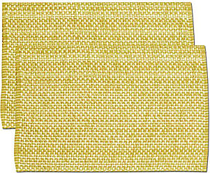 Sweet Home Collection Trends Two Tone 100% Cotton Woven Placemat (4 Pack), 13 x 19, Gold