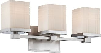 Lite Source Inc. LS-16343 Benicio 3 Light Wall Sconce with Frosted Grid