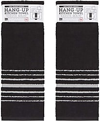 Now Designs 2240500aa Hang Up Kitchen Towels, Set of Two, Black
