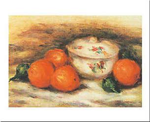 Buyartforless Buyartforless Still Life W/A Covered Dish and A Orange by Pierre-August Renoir 20x28 Art Print Poster