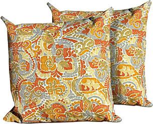 TK Classics Marigold Square Outdoor Throw Pillows - Set of 2 - PILLOW-MARIGOLD-18X18-2X
