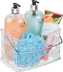 InterDesign Pebblz Bath, Bathroom Vanity Organizer Basket for Heath and Beauty Products/Supplies, Lotion, Perfume - Clear