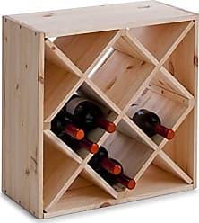 28 x 28 x 8 cm Zeller Wine Rack Bamboo 50x23x60cm Multi-Colour