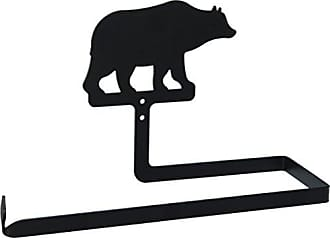 Village Wrought Iron 12 Inch Bear Paper Towel Holder Wall Mount