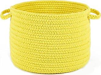 Rhody Rug Fun Braids Solid Yellow 14 x 10 Basket