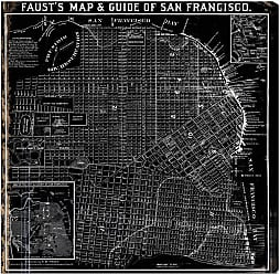 Hatcher & Ethan Fausts Map Of San Francisco 1882 Canvas Art - HE10744_43X43_CANV_XXHD_HE