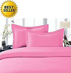 Elegant Comfort 5-Piece 1500 Thread Count Egyptian Quality Hypoallergenic Ultra Soft Wrinkle, Fade, Stain Resistant Bed Sheet Sets with Deep Pockets, Split King, Light Pink