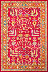Surya Fire Work - 5 x 7 6 Area Rug Pink, Yellow