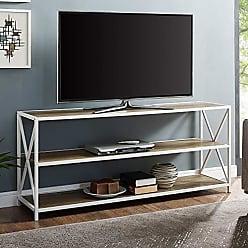 Walker Edison WE Furniture AZS60XMWROW Bookcase, 60, Rustic Oak/White Metal