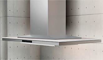 Zephyr 36W in. Layers Island Range Hood with White Glass - ALL-M90BWX