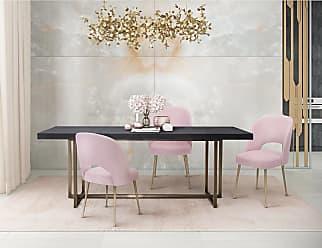 Overstock Swell Blush Velvet Chair