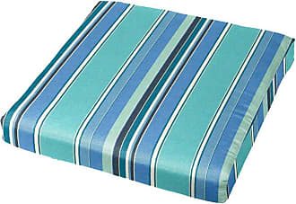 Cushion Source Sunbrella Striped 20 x 18 in. Chair Pad Foster Surfside - LPESR-56049