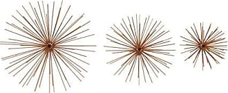 Deco 79 Contemporary Metal Starburst Wall Decor, 11, 9 and 6W