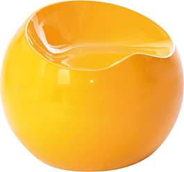 Rivatti Banco Puff Mauá Com Estrutura em ABS Amarelo