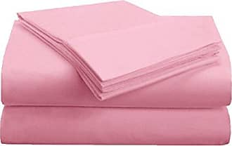 Home City Inc. Superior 1500 Series Premium Quality 100% Brushed Soft Microfiber 3-Piece Luxury Deep Pocket Cooling Bed Sheet Set, Hypoallergenic, Wrinkle and Stain Resistant - Twin XL, Pink