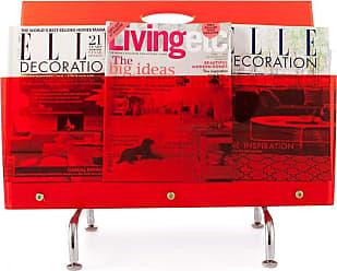 iDesign porte revue à fixer au mur argenté range magazine pour la salle de bain petit porte magazine mural en métal pour revues journaux ou magazines
