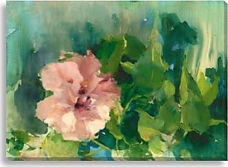 Gallery Direct Pink Hibiscus II Indoor/Outdoor Canvas Print by Allyson Krowitz, Size: Medium - NE73376