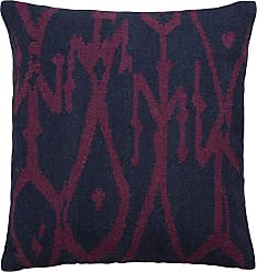 Jaipur Living Rugs Jaipur Tribal Wool and Cotton Decorative Pillow Down Fill Mood Indigo / Grape Wine - PLW102696